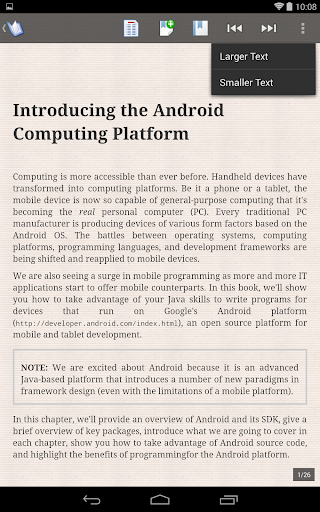 ePub Reader for Android 2.1.2 Screenshots 6