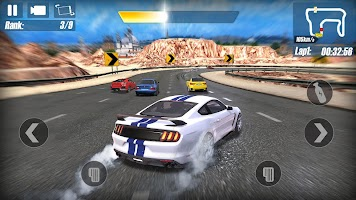 Real Road Racing-Highway Speed Car Chasing Game