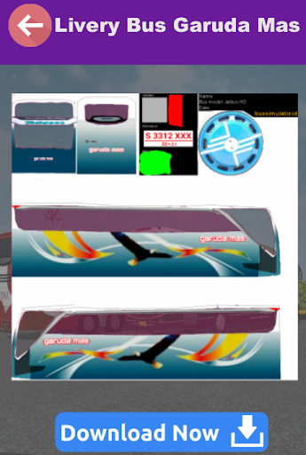 livery bussid hd garuda mas screenshot 3