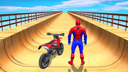 Superhero Speed Bike Racing: GT Mega Ramp Games 1.10 Screenshots 9