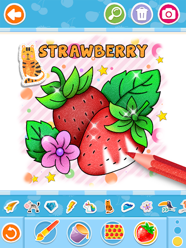 Fruits and Vegetables Coloring Game for Kids  screenshots 10