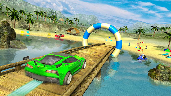 water surfer car floating beach drive hack