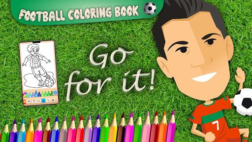Football coloring book game screenshots 8