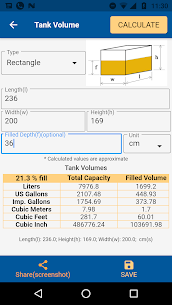 Tank Volume Calc Pro Apk for Android 4