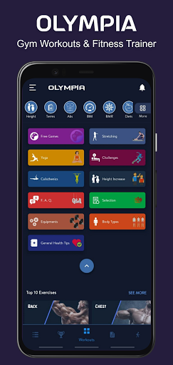 Download APK: Olympia Pro-Gym Workout & Fitness Trainer  v21.6.1 [Patched][Mod]