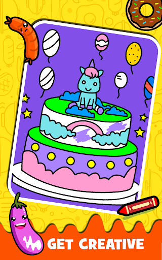 Fruits Coloring book & Food Drawing book Kids Free modavailable screenshots 12