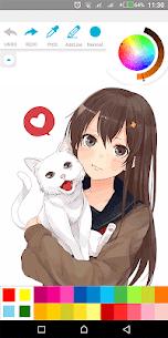 Anime Girl Coloring Book 5