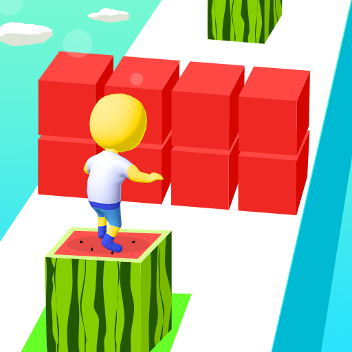 Try to pass over the blocks!