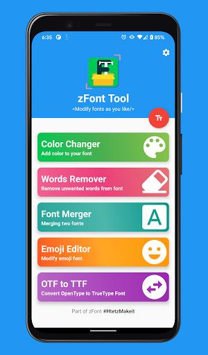 Download APK: zFont Tool – Font Color, Merger, Remover, Emoji v1.0.4 BETA [Mod]