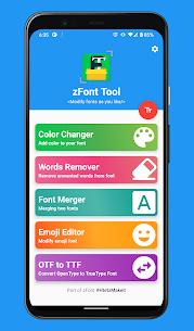 zFont Tool Mod Apk- Font Color, Merger, Remover, Emoji (No Ads) 1