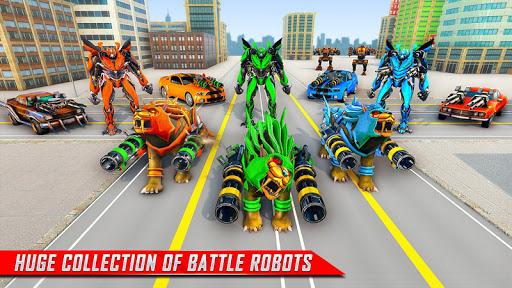 Lion Robot Car Transforming Games: Robot Shooting 1.8 Screenshots 13