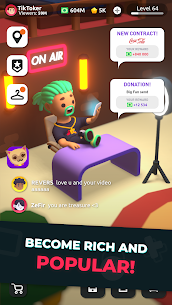 Idle Tiktoker: Get Followers and Become Celebrity Mod Apk 1.1.13 (Free Shopping) 2