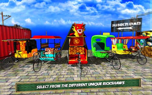 Bicycle Rickshaw Simulator 2019 : Taxi Game 4.0 Screenshots 6