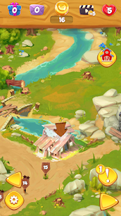 Settlers Trail Match 3: Build a town