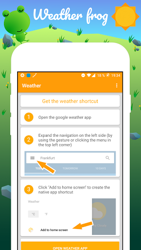 Weather Frog Shortcut 3.0 Screenshots 1
