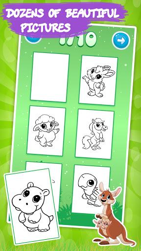 Code Triche Jeux de dessin: Livre de coloriage animaux enfants (Astuce) APK MOD screenshots 2