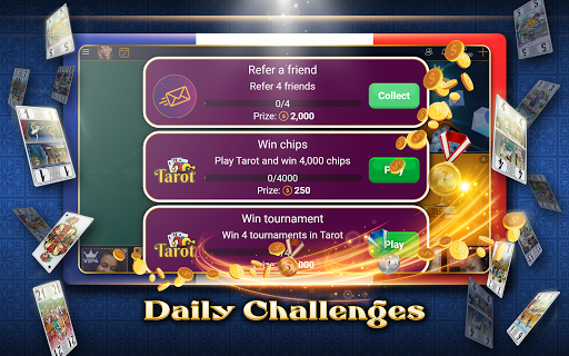 VIP Tarot - Free French Tarot Online Card Game 3.7.5.30 screenshots 12