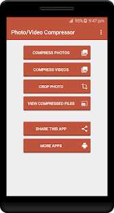 Photo / Video Compressor - Resizer Screenshot