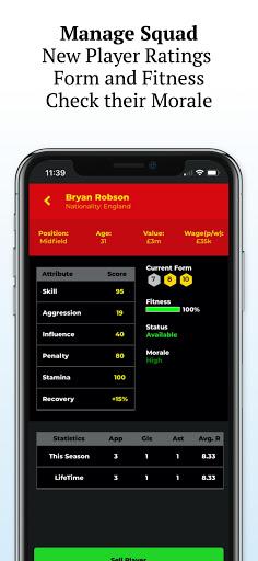 Retro Football Management - Be a Football Manager  screenshots 4