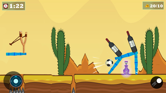 Modern Bottle Shooting Game : Slingshot Knock Down 1.3 screenshots 1