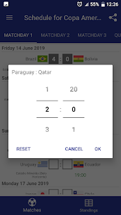 Schedule for Copa America 2019 Brazil