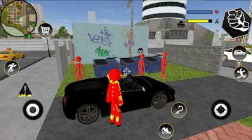 IRON Stickman Rope Hero Fighting Miami Gangstar