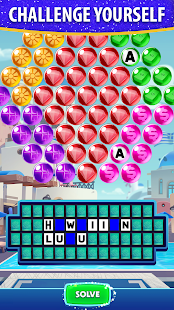 Bubble Pop: Wheel of Fortune! Puzzle Word Shooter Apkfinish screenshots 2