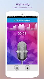 Super Voice Recorder  for PC – Windows 7, 8, 10 – Free Download 1