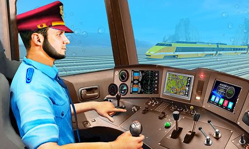 Underwater Bullet Train Simulator : Train Games android2mod screenshots 1
