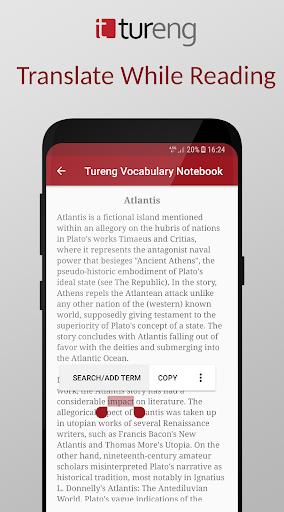 Tureng Vocabulary Notebook modavailable screenshots 6