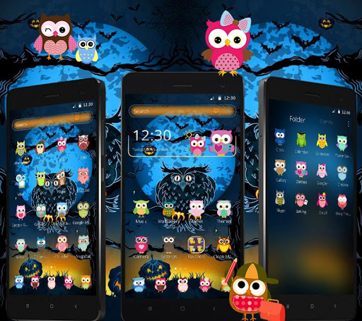 halloween night owl theme screenshot 2