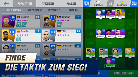 11x11: Fußballmanager Screenshot