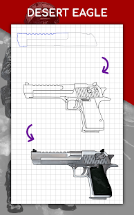 How to draw weapons step by step, drawing lessons 1.6.4 Screenshots 23