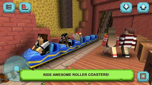 Theme Park Craft: Build & Ride  screenshots 3