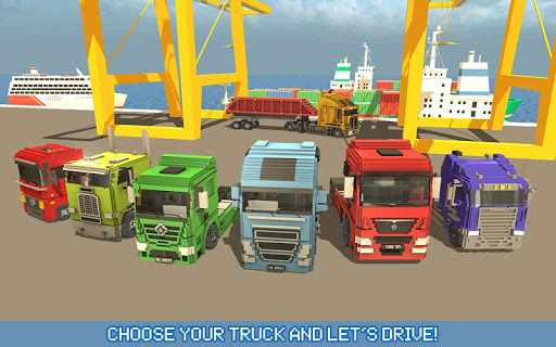 Blocky Truck Driver: Urban Transport 2.2 screenshots 11