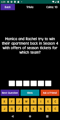 quiz about friends - trivia and quotes screenshot 2