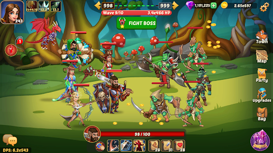 Firestone Idle RPG: Tap Hero Wars Mod Apk (God Mod) 1