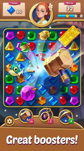 Gems Voyage - Match 3 & Jewel Blast 1.0.20 screenshots 8