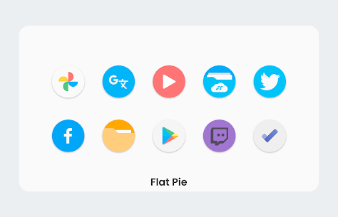 Flat Pie Apk- Icon Pack 5.4 (Paid) Download 3
