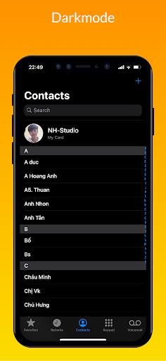 iCall – iOS Dialer, iPhone Call screen 2