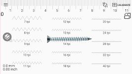 screenshot of Thread Pitch gauge