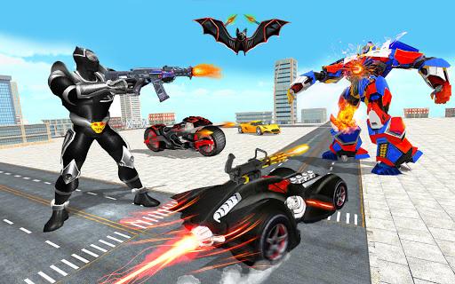 Flying Bat Robot Games: Superhero New Game 2021 screenshots 15