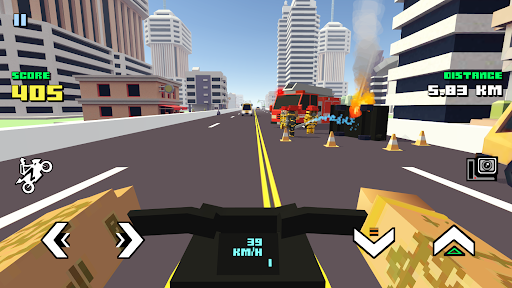 Blocky Moto Racing - motorcycle rider 1.30 screenshots 4