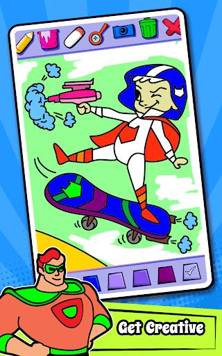 Superhero Coloring Book Game & Comics Drawing book  screenshots 24
