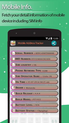Live Mobile address tracker 1.9.45 screenshots 4
