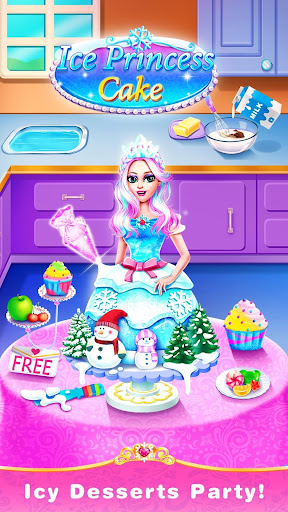 Ice Princess Comfy Cake -Baking Salon for Girls 1.6 screenshots 1