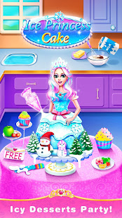 Ice Princess Comfy Cake -Baking Salon for Girls 2.1 screenshots 1