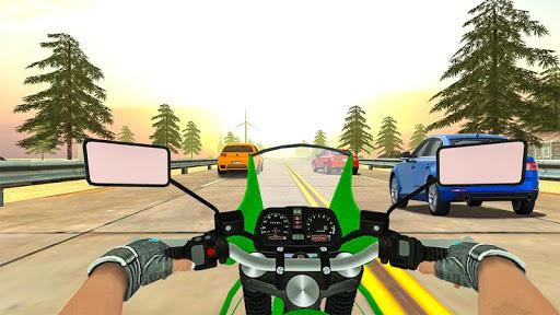 Highway Real Traffic Bike Racer screenshots 13