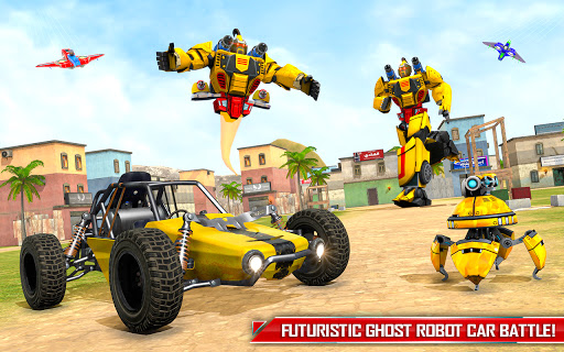 Flying Ghost Robot Car Game apkpoly screenshots 7