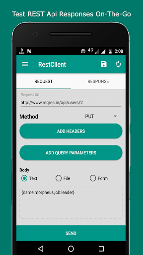 rest client - test rest api with your phone screenshot 2